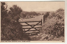View From Hangman Path Combe Martin Photo Postcard 1920