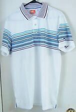 NWT Puma T Wrap Stripe Polo Size X-Large Color-White-Gloxinia Style #562900 05