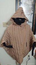 Max Mara Puffer Coat Jacket Beige Caramel One Size  US 2 to 8 Hood Short Sleeves