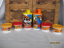 6 Set Tupperware NEW Disney Snack Cups, Bowls with lids , Jars, Box A