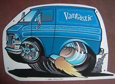 '69 -'74  2nd Generation Ford Econoline Van Tin Sign  in Blue
