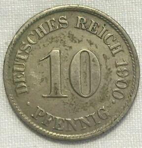 Germany 10 Pfennig Coin 1900-J
