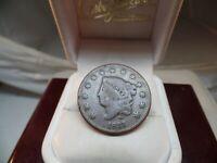 1831 1C Coronet Head Cent, # C 1582