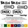 Adesivi prespaziati sponsor eni racing pata arrow regina sticker cropped 10 pz.