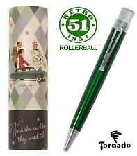 Retro 51 #VRR-1314 / Lacquered Green Tornado Rollerball Pen