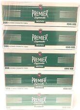 Premier Menthol Green King Size Filtered Cigarette Tubes - 5 Boxes (1000 tubes)