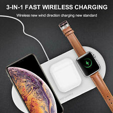 3In 1 Qi Wireless Charger Fast Charging Pad Apple iWatch iPhone X/8 Us