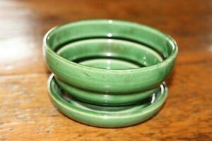 Vintage Green McCoy Planter Flower Pot Unusual Design