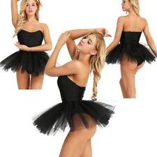 Para mujer sin tirantes de Tul Falda Tutú De Ballet Baile Leotardo Ballet Rave Fiesta Disfraz