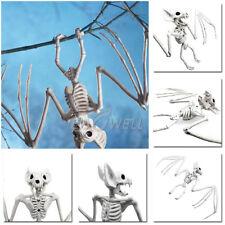 "11.8"" Creepy Skeleton Bat Bonez Halloween Scene Party Scary Decoration Props New"