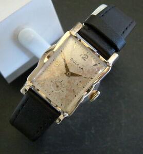 Vintage Deco 1958 10ct RGP BULOVA 'Lexington B' Watch; - All Original; Serviced