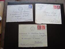 France - 3 envelopes 1937 (B16)