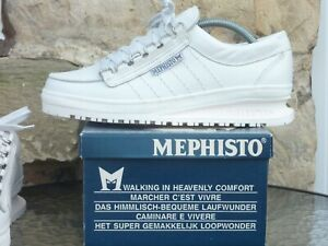 Vintage Mephisto Comfort Shoes UK8.5 Made In France Deadstock White Rainbow