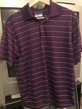 Pga Tour Men's Purple Polo Golf Shirt Size Medium