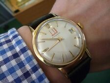 Vintage Dunhill Automatic eta 2472 9ct solid gold dress watch c.1969