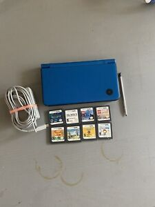 Nintendo DSi XL - Midnight Blue - Console With 8 Games.