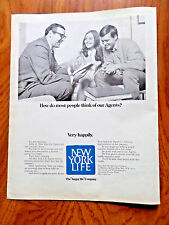 1970 New York Life Insurance Ad How do Most People Think of our Agents?