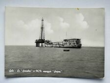 GELA Scarabeo nave ship SAIPEM Caltanissetta vecchia cartolina