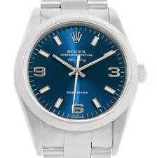 Rolex Air King Blue Dial Oyster Bracelet Steel Mens Watch 14000