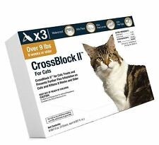 New listing Wim CrossBlock Ii Flea Preventative for Cats Over 9Lb. (3-Pack -3 month doses)