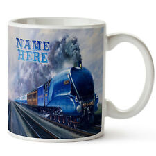 Personalised Mallard Steam Train Mug Birthday Cup Gift * Add Name *MS01