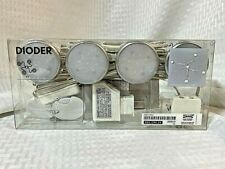 IKEA Dioder 001.194.24 Light Kit Set 4 Clear White Round Lights 22217