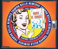 DAVIDE DE MARINIS TROPPO BELLA REMIXES CD SINGOLO SINGLE cds NUOVO!!!