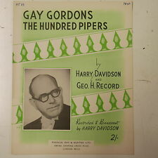 piano solo GAY GORDONS THE HUNDRED PIPERS ,  harry davidson , [pf-pop]