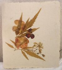 Pressed Flowers on Cover of Handmade Photo Album 4X6 Photos Slip-In Pages