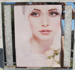 """Made with Swarovski Crystal Filled Picture Frame 5"""" x 7"""" Photo New Sparkly Bling"""