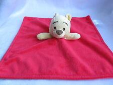 "Disney Baby Winnie The Pooh Red Security Blanket Lovey 11"" x 11"""