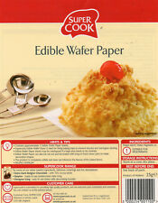 25 A4 Edible Wafer Paper Sheets Baking White Rice Paper