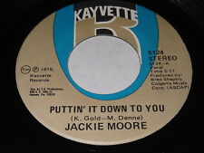 Jackie Moore: Puttin' It Down To You / Never Is Forever 45 - Soul