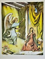 "GREGORIO SCILTIAN Vatican ""The Annunciation"" PENCIL SIGNED LITHOGRAPH 60/250"