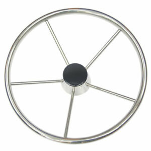Stainless Steel Steering Wheel with Cap Cruiser Speed Boat Sailing FF44T FF59