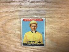 1933 Goudey Sport Kings Laverne Fator Jockey Card #13