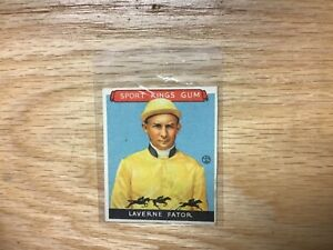 1933 Goudey Sport Kings Laverne Fator Jockey Card #13