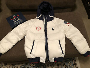 2018 Team USA Polo Ralph Lauren Paralympic Heated Jacket Closing Ceremony Small