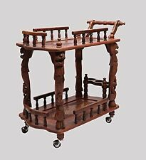 Indian Handcrafted Service/ Bar Trolley in Sheesham Wood , Home Trolley