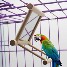 New listing BirdMirror Bird Swing, Parrot Cage Toys,Swing Hanging Play with Mirror for Mac