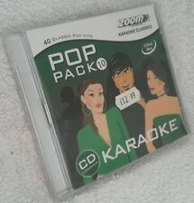 Karaoke cdg 2-disc Zoom Pop Pack 10, see descript. total 40 trks/arts