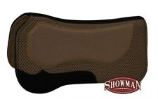 """Showman BROWN 30""""x31"""" Western Waffle Saddle Pad w/ Non Slip Poly Grip! NEW TACK!"""