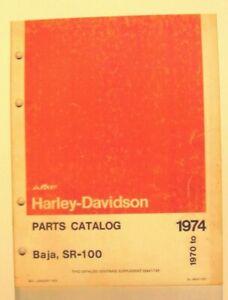 1970-74 Harley-Davidson  Baja  SR -100 Parts Catalog # 99447-70 .  W/Supplement