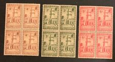 Somalis 1938 3 Blocks Of 4 MNHOG XF A9/82