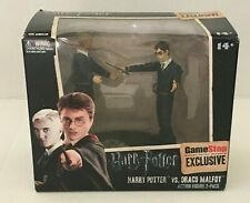 Harry Potter Vs Draco Malfoy Action Figure 2 Pack GameStop Draco Wand is Missing