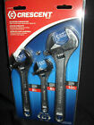 CRESCENT 3 PIECE ADJUSTABLE WRENCH SET -  6