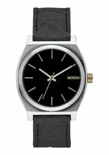 *BRAND NEW* NIXON WATCH THE TIME TELLER BLACK / BRASS A0452222 NEW IN BOX!