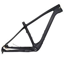 "19"" 26er Carbon Fat Bike Frame Snow Thru Axle 197mm MTB UD Matt 4.8"" Internal"