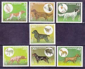 Bulgaria 3128-34 MNH 1985 Hunting Dog & Prey Full Set of 7 Very Fine