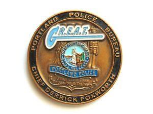 Portland Police Bureau Challenge Coin Gang Resistance Education & Training